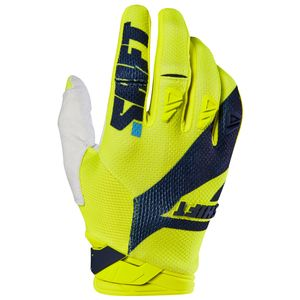 Gants cross Shift 3LACK PRO MAINLINE 2017 - JAUNE FLUO