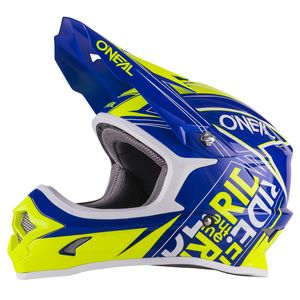Casque cross O'Neal 3 SERIES KID FUEL 2017 BLEU JAUNE FLUO