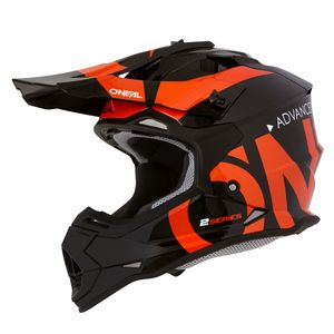 2 SERIES RL YOUTH - SLICK - BLACK ORANGE GLOSSY