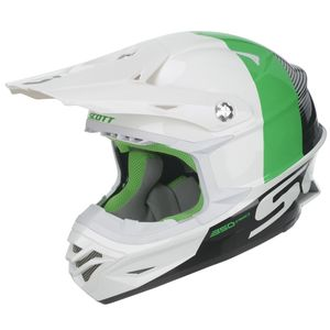Casque cross Scott 350 PRO TRACK WHITE GREEN ENFANT 2017