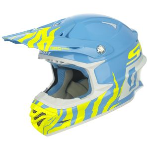 Casque cross Scott 350 PRO RACE BLUE WHITE ENFANT 2017