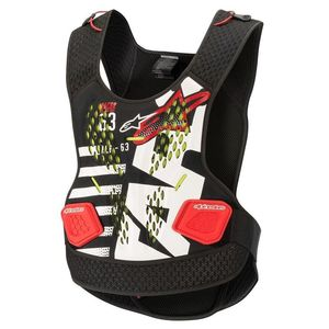 SEQUENCE CHEST PROTECTOR - BLACK WHITE RED
