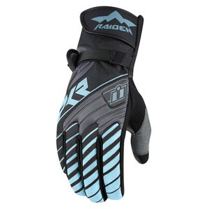 Gants Icon Raiden DKR WOMENS Gris/Bleu