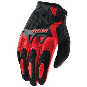 Gants cross Thor SPECTRUM 2017 - ROUGE