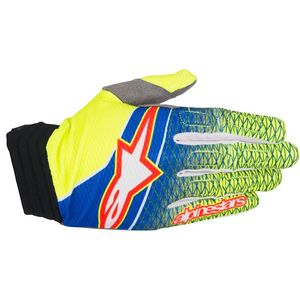 Gants cross Alpinestars AVIATOR BLUE YELLOW FLUO RED 2017