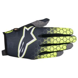 Gants cross Alpinestars RADAR FLIGHT ANTHRACITE YELLOW FLUO LIGHT GRAY 2017