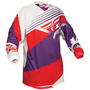 Kinetic Jersey Violet/Rouge/Blanc