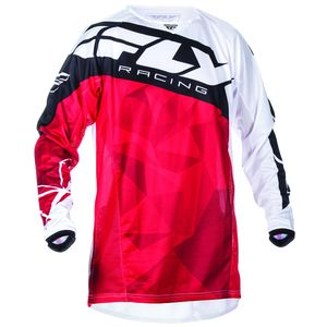 Maillot cross Fly KINETIC CRUX - ROUGE BLANC - 2017