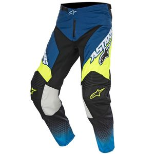 Pantalon cross Alpinestars RACER SUPERMATIC DARK BLUE CYAN YELLOW FLUO 2017