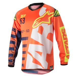 RACER BRAAP ORANGE FLUO DARK BLUE WHITE