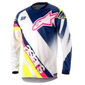 RACER SUPERMATIC WHITE DARK BLUE YELLOW FLUO