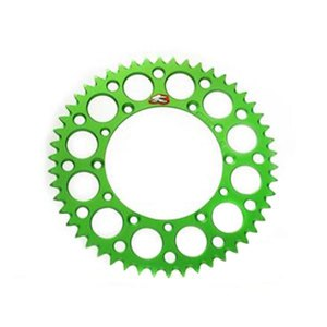 Couronne Renthal Ultra light Anodise vert Anti boue 49 dents
