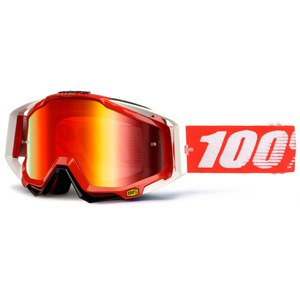 Masque cross 100% RACECRAFT - FIRE RED LENS