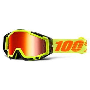 Masque cross 100% RACECRAFT - ATTACK YELLOW RED LENS