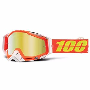 Masque cross 100% RACECRAFT - RAZMATAZ GOLD LENS