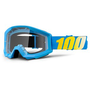 Masque cross 100% STRATA JUNIOR - BLUE CLEAR LENS 2017
