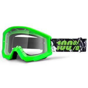 Masque cross 100% STRATA - CRAFTY LIME CLEAR LENS 2017