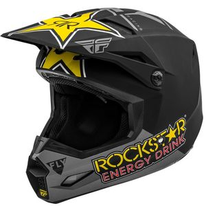 KINETIC ROCKSTAR MATTE YELLOW BLACK GREY