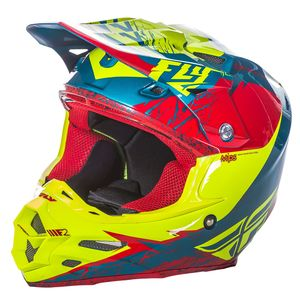 F2 CARBON MIPS RETROSPEC - ROUGE JAUNE FLUO -