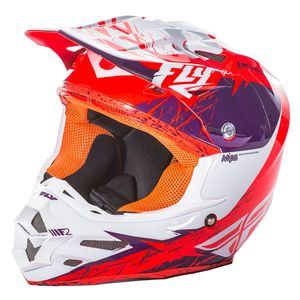 F2 CARBON MIPS RETROSPEC - POURPRE BLANC ORANGE FLUO -