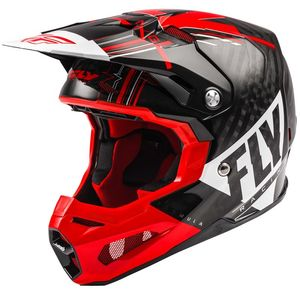 FORMULA CARBON VECTOR - RED WHITE BLACK GLOSSY