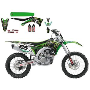 Kit déco + housse de selle Blackbird Kawasaki Replica Team Monster energy
