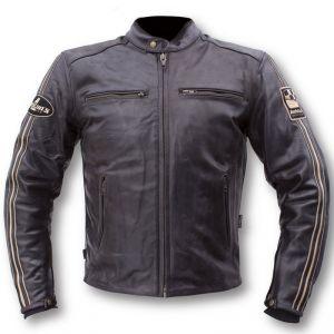 Veste cuir moto homme triumph