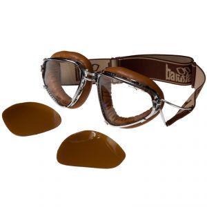 lunettes moto Baruffaldi SENIOR 259 CUIR CLAIR