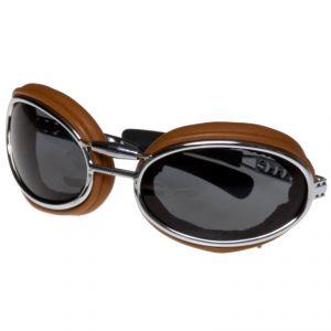 lunettes moto Baruffaldi SFERICUM PAD CUIR CLAIR