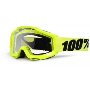 Masque cross 100% ACCURI - FLUO YELLOW CLEAR LENS