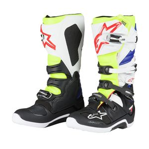 Bottes cross Alpinestars TECH 7 WHITE YELLOW FLUO BLUE 2017
