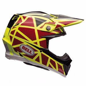 MOTO-9 CARBON FLEX STRAPPED JAUNE ROUGE -