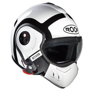 Casque ROOF RO5 BOXER V8 BOND Blanc/Noir
