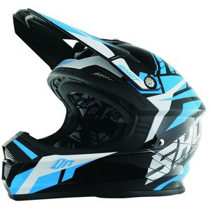 Casque cross Shot FURIOUS SQUAD BLEU ENFANT 2017