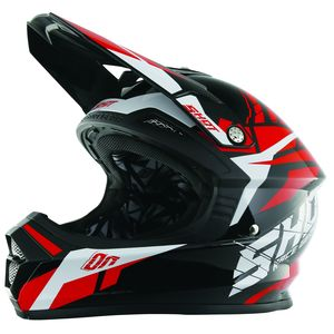 Casque cross Shot FURIOUS SQUAD ROUGE ENFANT 2017