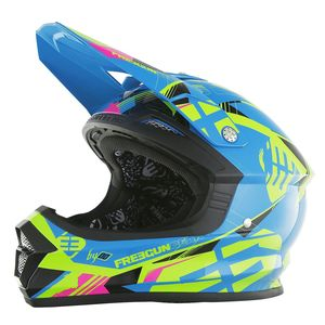 Casque cross Shot by Freegun XP4 LINK BLEU LIME ENFANT 2017