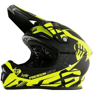 Casque cross Shot by Freegun XP4 LINK NEON JAUNE MAT ENFANT 2017