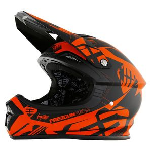 Casque cross Shot by Freegun XP4 LINK NEON ORANGE MAT ENFANT 2017