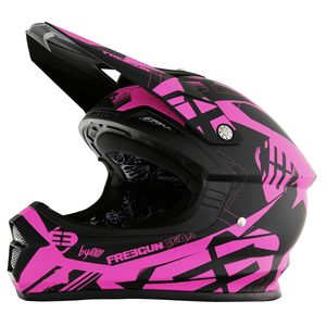 Casque cross Shot by Freegun XP4 LINK NEON ROSE MAT ENFANT 2017