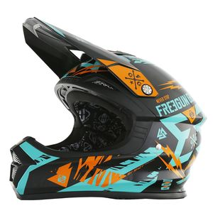 Casque cross Shot by Freegun XP4 TROOPER MINT ORANGE ENFANT 2017