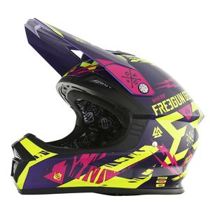 Casque cross Shot by Freegun XP4 TROOPER NEON JAUNE MAGENTA ENFANT 2017