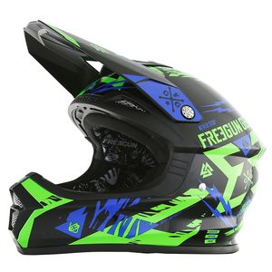 Casque cross Shot by Freegun XP4 TROOPER NEON VERT BLEU ENFANT 2017