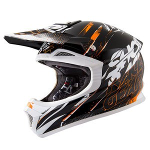 Casque cross Shot Déstockage FURIOUS CAPTURE NOIR ORANGE ENFANT 2016