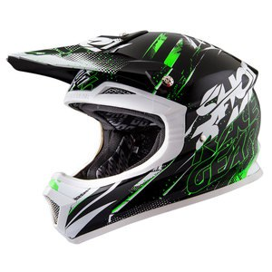 Casque cross Shot Déstockage FURIOUS CAPTURE NOIR VERT ENFANT 2016