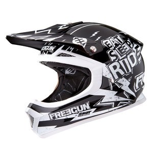 Casque cross Shot Déstockage XP4 CAUSE NOIR BLANC ENFANT 2016