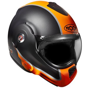 Casque ROOF RO31 DESMO FLASH -NOIR / ORANGE MAT - 2éme GENERATION