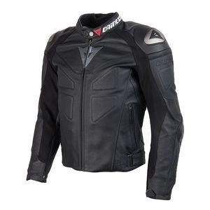 Blouson moto cuir gris