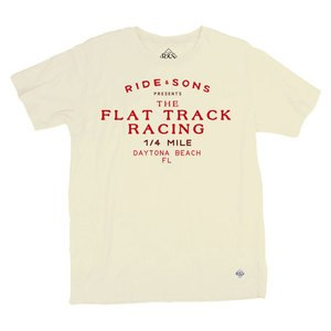 T-shirt manches courtes RIDE AND SONS GARAGE Beige