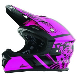 Casque cross Shot FURIOUS CLAW NEON ROSE ENFANT 2017