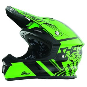 Casque cross Shot FURIOUS CLAW NEON VERT ENFANT 2017